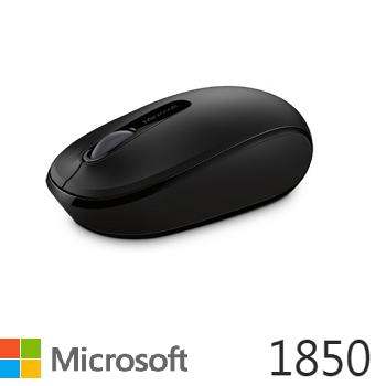 微軟 Microsoft 無線行動滑鼠 1850 削光黑(U7Z-00010)