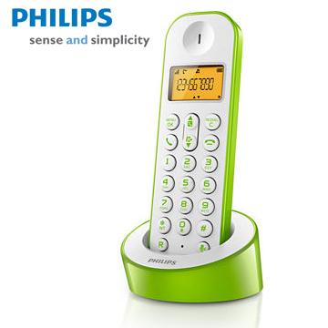 【福利品】PHILIPS簡單生活多彩數位無線電話(D1201WN(綠白))