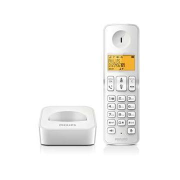 【福利品】 PHILIPS純白數位無線電話(D2101W)