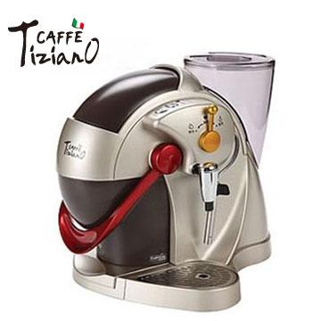 【福利品】Caffe Tiziano義式膠囊咖啡機(TSK-1136(香檳金))