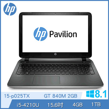 HP 15-p025TX Ci5 4G GT840-2G 獨顯筆電(15-p025TX)