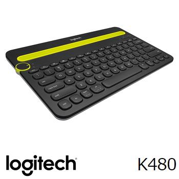 【拆封品】羅技 Logitech K480 多功能藍牙鍵盤 - 黑(920-006378)