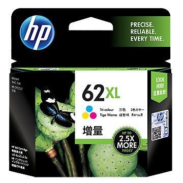 HP 62XL 高容量彩色墨水匣(C2P07AA)