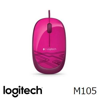 羅技滑鼠M105-(粉)(910-002936)