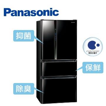 Panasonic610公升ECONAVInanoe四門變頻冰箱(NR-D618NHV-B(光釉黑))