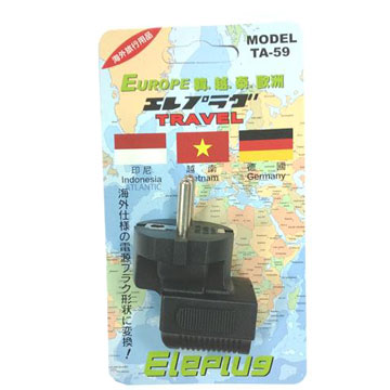 博覽家台灣出國專用插座(韓、越、全歐洲)(TA-59)