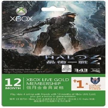 Xbox LIVE 金會員 12+1 個月+Halo 4(52M-00259)