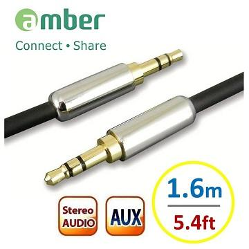 Amber 3.5mm AUX Audio立體聲音源訊號線
