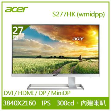 【27型 】ACER S277HK 4K IPS液晶顯示器