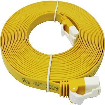 D-Link Cat.6 UTP高速扁平網路線-黃色5M(NCB-C6UYELF2-5)
