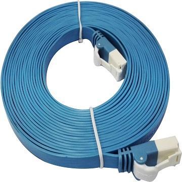D-Link Cat.6 UTP高速扁平網路線-藍色5M(NCB-C6UBLUF2-5)