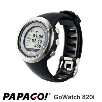 PAPAGO GoWatch820i 藍牙中文三鐵運動錶-銀