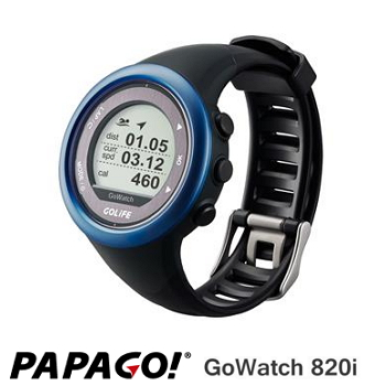 PAPAGO GoWatch820i 藍牙中文三鐵運動錶-藍
