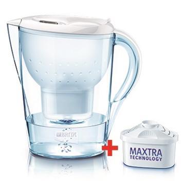 德國BRITA濾水壺-馬利拉(白)(馬利拉白贈乙芯含二芯)