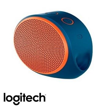 「展示品」羅技 Logitech X100藍牙揚聲器-藍橘(984-000371)