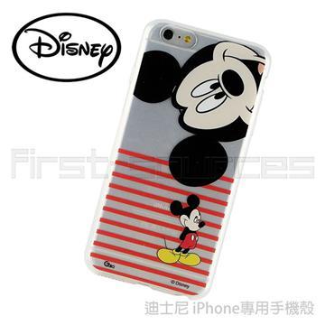 【iPhone 6 Plus】Disney 保護軟套-條紋米奇(iPhone6 Plus適用)