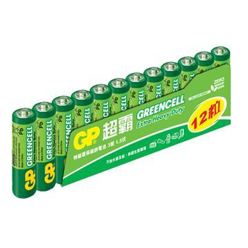 GP超霸3號特級碳鋅電池12入(AA 12)