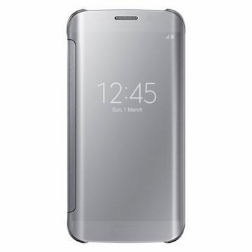 SAMSUNG S6 Edge原廠全透視感應皮套 -銀(EF-ZG925BSEGWW-銀)