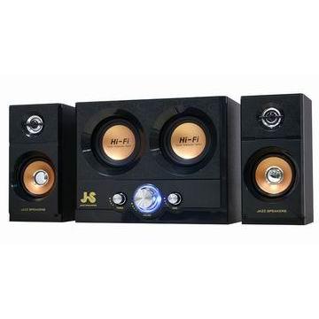 JS 雷霆雙重低音全木質三件式喇叭(JY3051)
