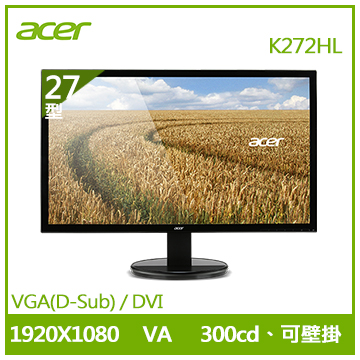 【福利品】【27型】ACER K272HL VA(K272HL)