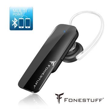 FONESTUFF 一對二高話質藍牙耳機-黑(FB002(BK))