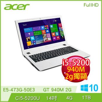 ACER E5-473G Ci5 NV940 獨顯筆電(E5-473G-50E3(W10)白)