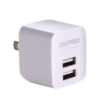 ONPRO USB雙埠電源供應器-白(UC-2P01-W)
