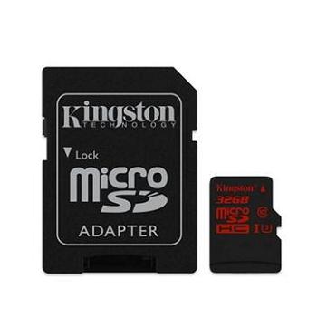 【U3】金士頓 Micro SD 32G極速記憶卡(含轉卡)(SDCA3/32GB)