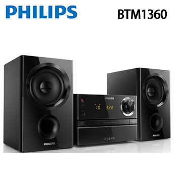 【福利品】PHILIPS 藍牙/USB組合音響(BTM1360)