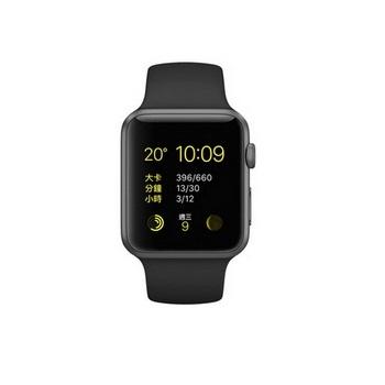 【42mm】Apple Watch Sport 太空灰鋁金屬/黑色運動錶帶 MJ3T2TA/A()