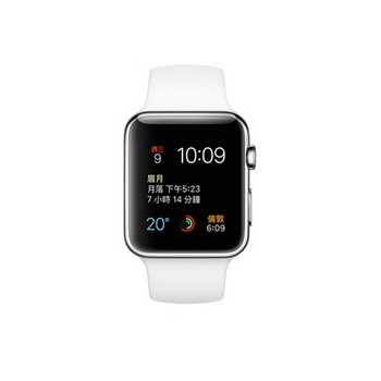 【42mm】Apple Watch 白色運動 / 不鏽鋼 MJ3V2TA/A