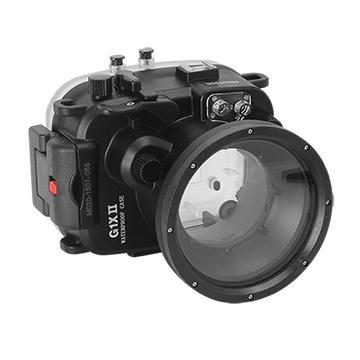 Kamera For Canon PowerShot G1X Mark II 潛水殼-黑(FOR G1X Mark II)