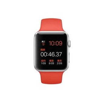 【42mm】AppleWatchSport橙色運動/銀色鋁金屬MLC42TA/A