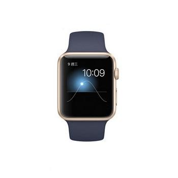 【42mm】AppleWatchSport午夜藍色運動/金色鋁金屬MLC72TA/A