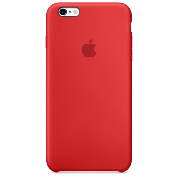 iPhone 6s Plus 矽膠護套-紅色(MKXM2FE/A)