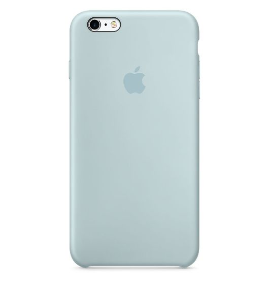 iPhone 6s Plus 矽膠護套-藍綠色(MLD12FE/A)