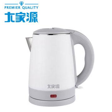 大家源2L不鏽鋼寬口防燙快煮壺(TCY-2732)