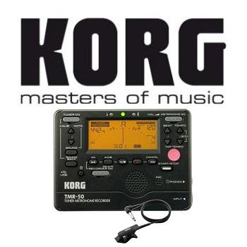 KORG 調音節拍錄音器+拾音夾 黑色 公司貨(TMR-50 黑色)