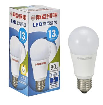 東亞13W LED全電壓球型燈泡-晝光色(LLA012-13AAD)