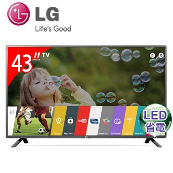 【福利品】 LG 43型LED智慧型液晶電視(43LF5900)