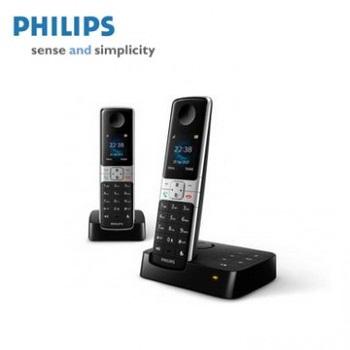 【展示機】PHILIPS全彩中文雙機數位電話附答錄功能(D6352B)