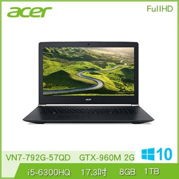 ACER VN7-792G Ci5 GTX960 電競獨顯筆電(VN7-792G-57QD)