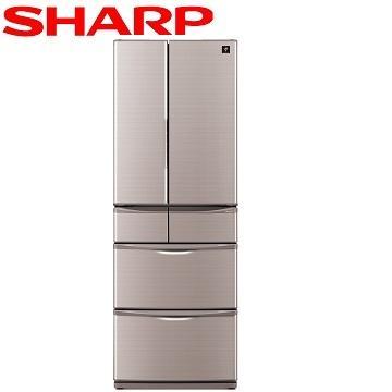 【福利品 】SHARP 465公升1級除菌離子六門冰箱(SJ-XF47BT-T(晶燦棕))