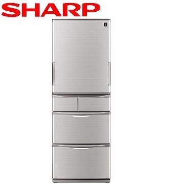 【福利品 】SHARP 440公升1級除菌離子五門左右開冰箱(SJ-XW44BT-N(晶燦銀))