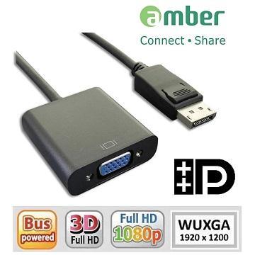 amber 主動式Displayport轉VGA轉換器/線材(DPV-02)