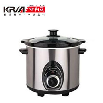 可利亞4L不銹鋼黑瓷養生燉鍋(KR-40Z)