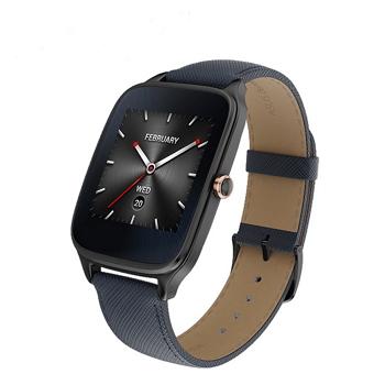 ASUS ZenWatch 2智慧錶-真皮伯爵藍(WI501Q-2LBLU0010)