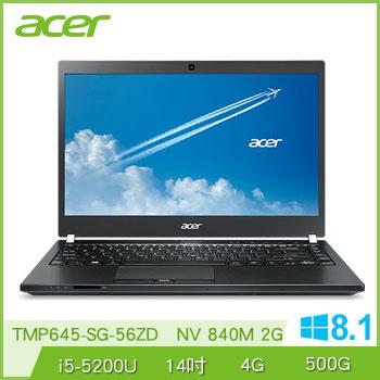 ACER TMP645 Ci5 NV840 獨顯商用筆電(TMP645-SG-56ZD)