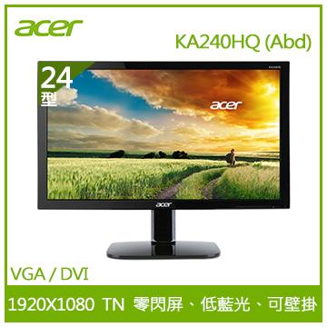 【24型】ACER LED液晶顯示器(KA240HQ (Abd))