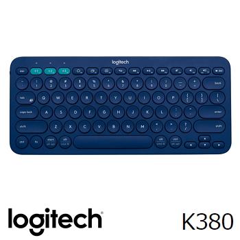 羅技 Logitech K380 跨平台藍牙鍵盤 - 藍(920-007593)